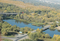 Нижний мост через реку Урал (Малый мост)