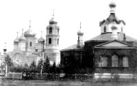 Новая и старая церкови Покровского женского монастыря 1910–1912 гг.