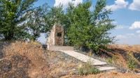 Памятный камень на месте гибели Плохотнюка Б.В.