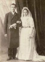 Жених (Пальмов Владимир Васильевич) и невеста (Маляровская Ольга Фёдоровна)