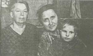 Людмила Добротворская, Владислава Копецкая с сыном (январь 1952-го)