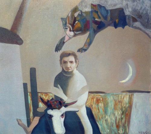 Ночь (х.м., 101х101 см. ,1992 г.)