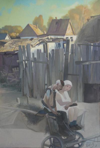 Серия - Граждане Кумака - Пастухи (хм, 89х129, 2002 г.)
