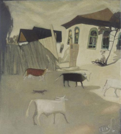 Серия - Граждане Кумака - Стадо (хм, 100х110 см., 2002 г.)