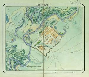 План Орской крепости